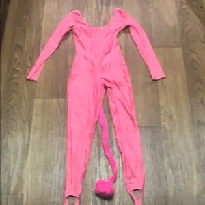 Pink body suit w/tail